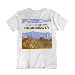 khardunga leh t shirt, t shirts for mountain bikers, bike life t shirt,