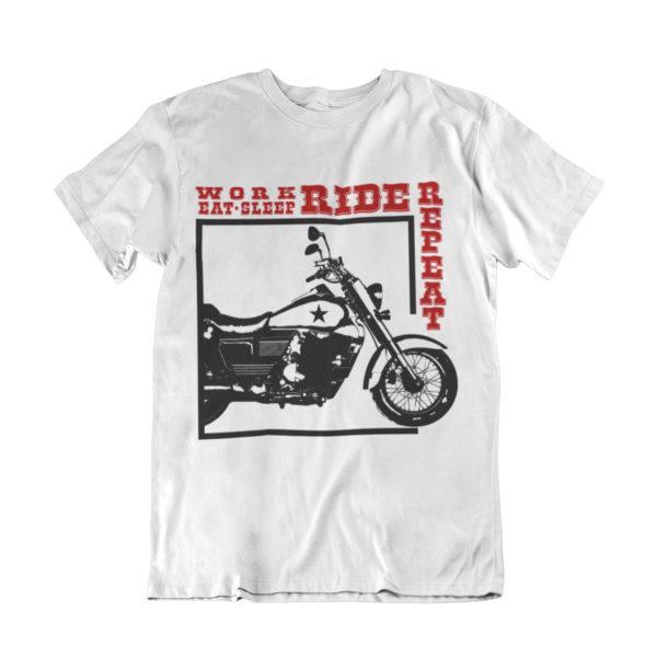 Work eat sleep ride repeat biker t shirt