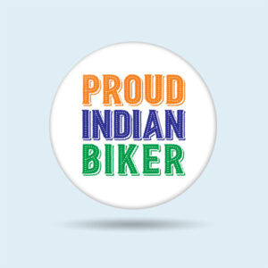 Indian flag pin badge online for Biker