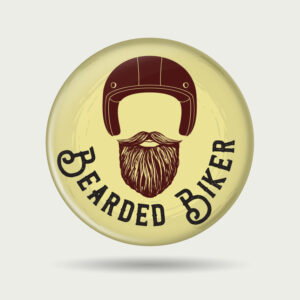 Bearded Biker – Badge