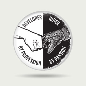 Developer by profession – Badge