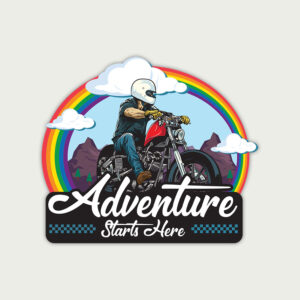 Adventure Starts Here – Sticker