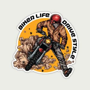 Biker Life Drive Style – Sticker