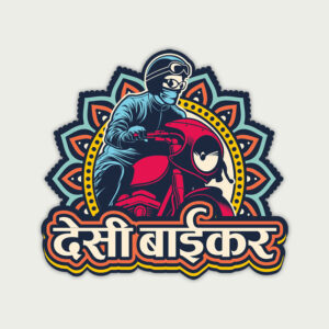 Desi Biker – Sticker