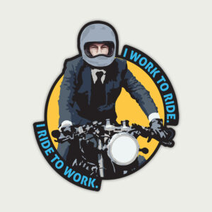 I Ride to Work – Sticker