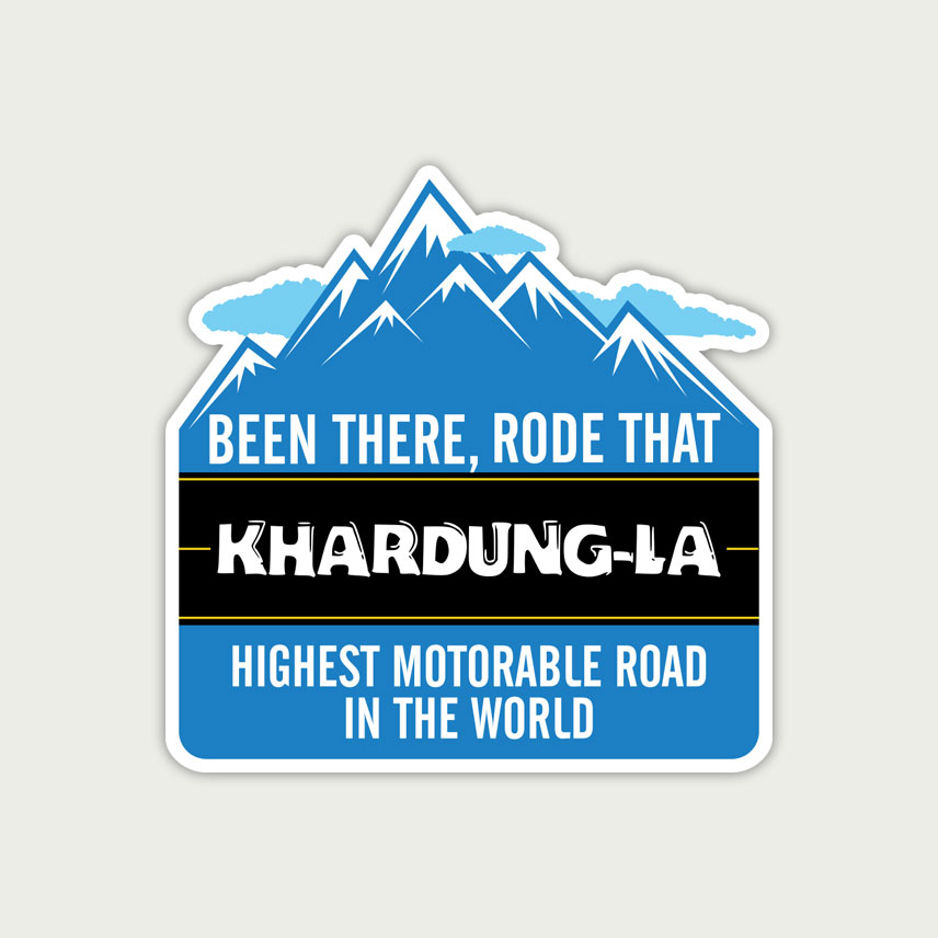 khardungla sticker, leh ladakh sticker, helmet sticker, royal enfield stickers india, motorcycle stickers india, bike stickers online