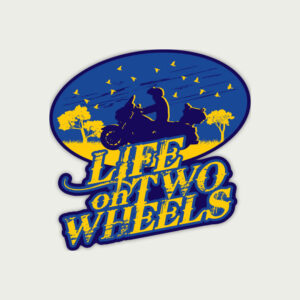 Life on Two Wheels – Sticker