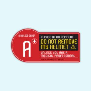 blood group sticker for biker A Positive