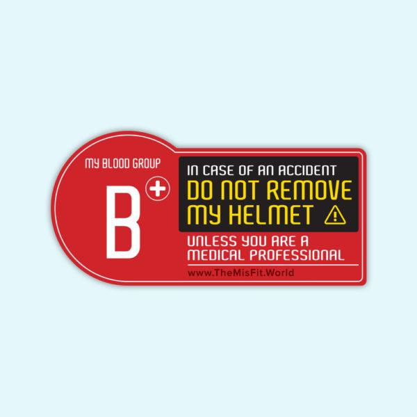 blood type sticker