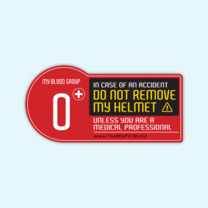 blood group sticker for biker O positive