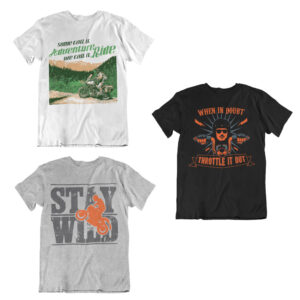 Adventure tshirts for bikers – COMBO