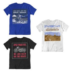 Leh ladakh royal enfield biker tshirts