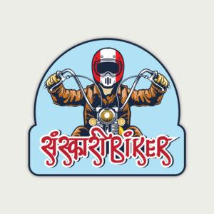 Sanskari biker – Sticker