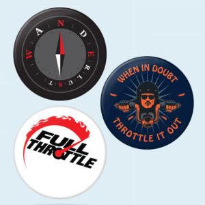Wanderlust biker badges