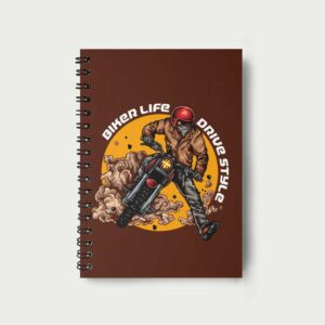 Biker Life Drive Style – Notebook