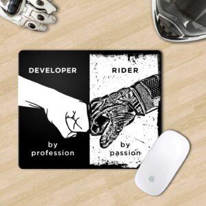 Developer biker mouse pad