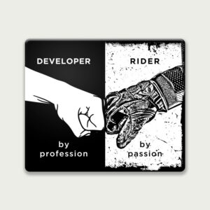 Developer by profession – Mouse Pad