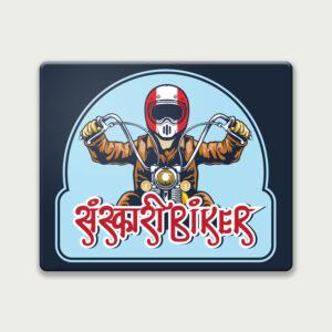 Sanskari biker – Mouse Pad