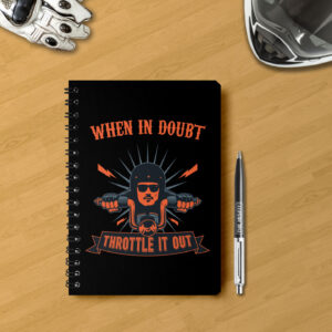 Classy notebook for bikers, motorcycle riders. Can be carried easily everywhere, A5 size. 100 pages. 75 GSM.