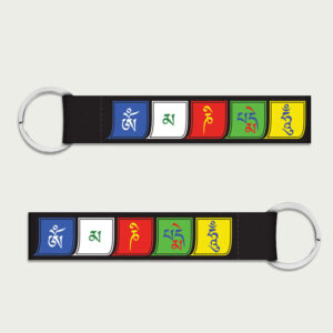 Buddhist mantra flag – Keychain