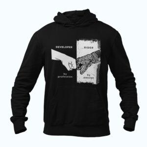 sweatshirt biker jacket -Developer-by-profession,-rider-by-passion-biker sweatshirts