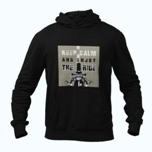 Biker style hoodie