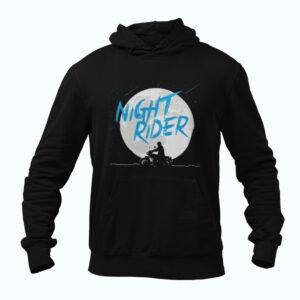 Black biker hoodie
