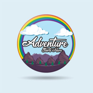 Adventure biker badge