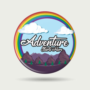 Adventure starts here – Badge