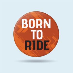 KTM biker badge