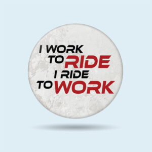 pin badges online india. I Ride to Work custom motorcycle tank emblems