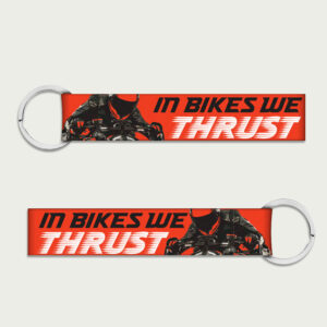 In bikes we thrust – Keychain