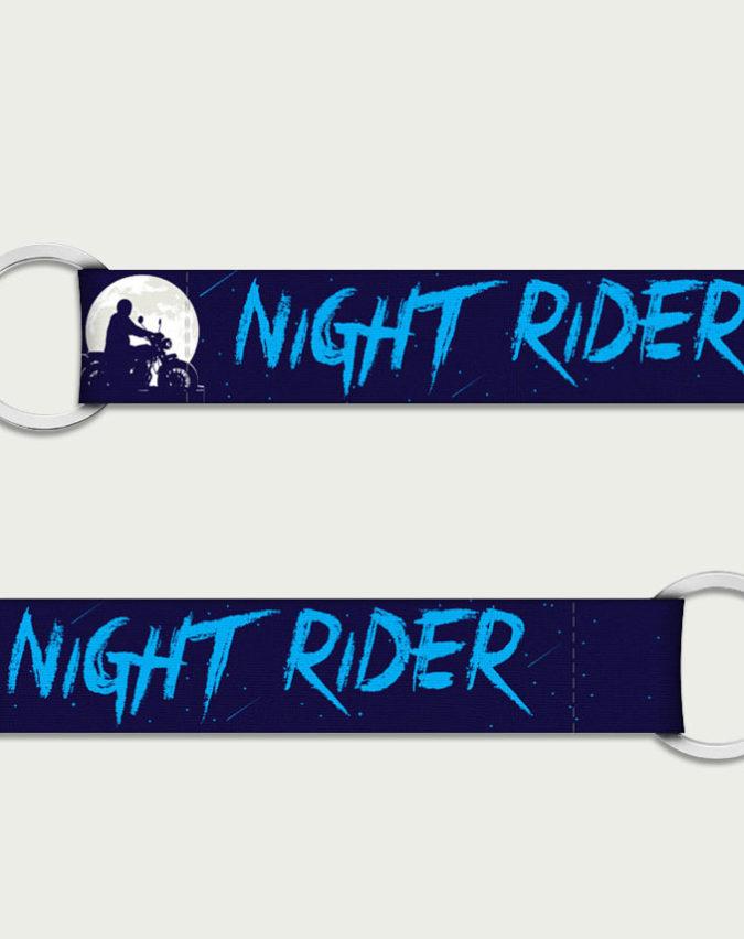 Night rider, keychains for bikes, keyring online, bike keychain
