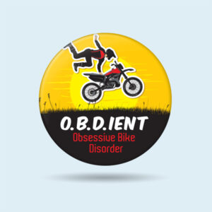 pin batches Obsessive Bike Disorder motorcycle badges for sale