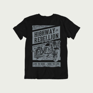 biker t shirt design, Highway Rebellion T Shirt, royal enfield t shirt, car t shirts india, biking t shirts india, bikers tshirt,
