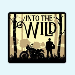 Into the wild bike sticker