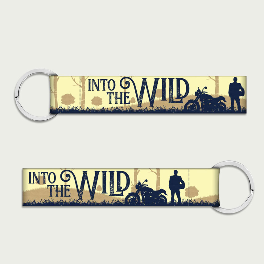 Into the wild, keychain for bike online, fabric keychain, best bike keychains