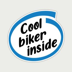 Cool Biker Inside – Sticker